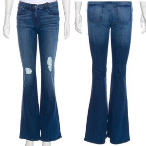 NWT 3x1 | Bell Bottom Distressed Mid Rise Jeans